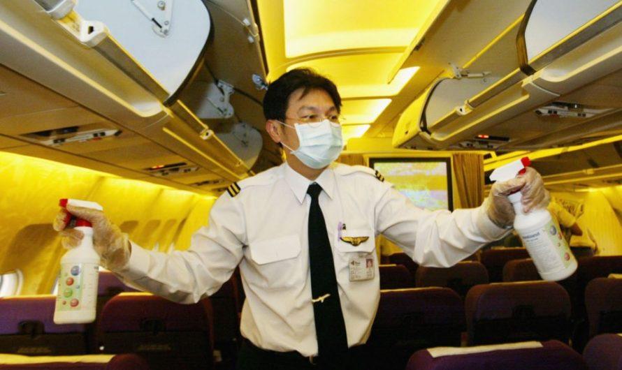 Мойте руки в самолётах